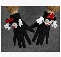 Wholesale Europe Cartoon Knitted Autumn Winter Gloves Big Girl Fashion Casual Accessories Gloves Woolen Warm Finger Gloves A1DB01