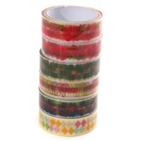 Wholesale 1pcs Candy Multicolour Adhesive Tape Home Office Decor Booking Tools Stickers Stationery