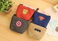 batman party supply - 4 Design Boy Captain America Superman Batman cartoon wallet new Super hero party supplies Kids boy bag B001