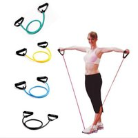 Wholesale Free Fedex Pull Rope Elastic Rope Crossfit Set Multifunctional Training Equipment Rubber Band Belt Gym Equipment ak073