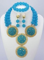 shell necklace and earring - CJ1085 SKY blue Fashion and newest designed ghigh quality material beads jewelry