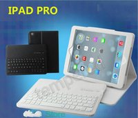Wholesale ipad pro bluetooth keyboard Detachable Wireless Bluetooth ABS Keyboard PU Leather Case Tablet Stand For Apple iPad pro quot inch
