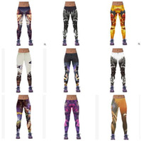 Wholesale Women Leggings Newest Womens d Galaxy Printed Leggings for Women Workout Capri Leggings Yoga Stretch Tights Sport Leggings