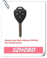 Wholesale 10pcs Remote Key Shell Button TOY43 For Toyota Camry