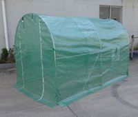 galvanized steel - GARDEN PRODUCT BIG GREENHOUSE WALK IN TUNNEL WITH PE MESH AND GALVANIZED STEEL TUBE