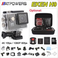 Wholesale Action camera EKEN H9 H9R Ultra HD K WiFi P fps LCD D lens Helmet Cam go waterproof camera SJ4000 pro style