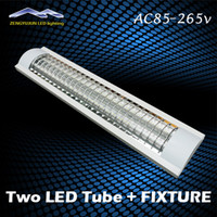 Cheap 0.6m Explosion Proof Two LED tube Lights Replace fluorescent light fixture Ceiling Grille lamps