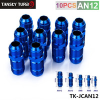 Wholesale Tansky High Quality AN12 AN MALE THREAD STRAIGHT BULKHEAD FLARE BLUE ALUMINUM ANODIZED FITTING in stock TK JCAN12