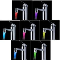 Wholesale 7 Colors Changing Glow LED Light Water Stream Faucet Tap