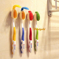 Wholesale 4pcs Bathroom Supplies Antibacterial Smile Face Toothbrush Cover Holder Protector Suction