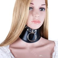 Wholesale Black Posture Collar PU BDSM Slave Neck Collars Bondage Restraints Gear Adult Sex Toys for Women ASL XQ0101