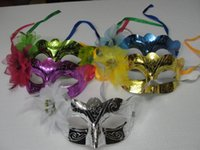 fly mask - 2015 hot sale Flower Princess Mask For Lady Hot Pink Green Golden Silver Blue Butterfly Flying mask dance party mask