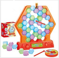 Wholesale Special Kids Toys Save the bee Building blocks Bubble Bobble games hildren s educational board games toys