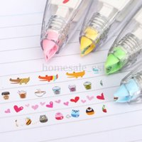 Wholesale Creative Stationery Push Correction Tape Lace for Key Tags Sign School Supplies