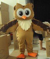 Wholesale Professional New Style Big Brown Owl Mascot Costume Fancy Dress Adult Size