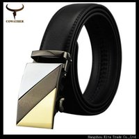 Wholesale MEN Automatic buckle strap genuine leather mens belt Automatic Buckle110 size male belts cinto masculino belts