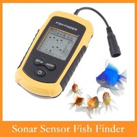 ap electronics - High quality Fish Finder Portable Sonar Wired LCD Fish depth Finder Alarm M AP Electronic fishing tackle Dropshipping