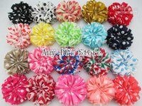 ballet hair bows - xayakids hot selling quot promotion Child hair accessorise chiffon flower handmade flower color Chevron chiffon ballet flowers