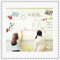 adhesive white board - 300pcs CCA3148 Kids CM PVC Whiteboard Wall Sticker Decal Vinyl Removable DIY White Board Sticker With Marker Pen With Retail Package