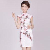 Wholesale 2015 autumn chinese cheongsam fashion design short cheongsam female vintage embroidered cheongsam one piece dress elegant