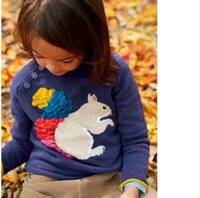 baby hedgehogs - 2016 MINI BODEN kids baby Sweaters pullover girl Squirrel knit infant toddler Children s hedgehog stereo autumn Cusal A10