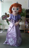 Cheap ohlees actual pictures purple Sofia the first Princess cartoon Mascot costumes for Halloween party activity Fancy dress advertise adult size