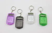Wholesale Fashion Cute Mini Pocket Calculator Keyring Key Chain Mixed Random Colors