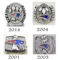 Wholesale a set England Patriots championship rings four rings together solid high quality