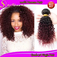 afro kinky human hair - Two Tone Mongolian Kinky Curly Hair Bundles Ombre Human Hair Weave Sale Mongolian Afro Kinky Curly Virgin Hair Curl Romantic Hair Products
