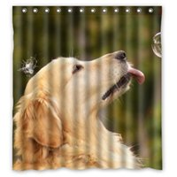 animal print curtains - Polyester Shower Curtain Waterproof Print Cute animal Golden Retriever Doggy Decorative Bathroom Screen quot x quot