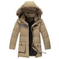 Wholesale new childrens clothing boys down jacket parka big boy jacket long sections clearance genuine thick boy winter warm jackets