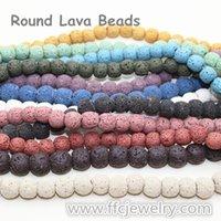 Wholesale mm natural lava volcanic rock gemstone beads