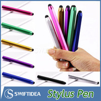 Wholesale Stylus pens for iPad air iPhone capacitive screen touch pen soft mini light portable easy use multi colors MOQ