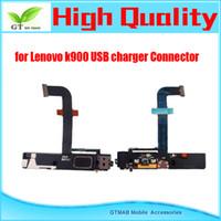 5pcs / lot de la alta calidad para Lenovo K900 del cargador del muelle de carga Conector de puerto USB libre del envío Flex Cable