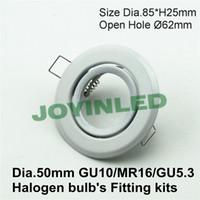Wholesale cheaper promotion led ceiling light frame led gu10 fittings white downlight holder