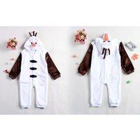 Cheap Frozen Olaf Costume Onesies Pajamas Kigurumi Jumpsuit Hoodies Adults Cosplay Costumes S-M-L-XL fit 2-7Y 1707054