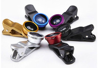 Wholesale 2016 Best selling Universal in1 Clip On Fish Eye Lens Wide Angle Macro Mobile Lens For iPhone Samsung Galaxy S4 S5 All Phones fisheye