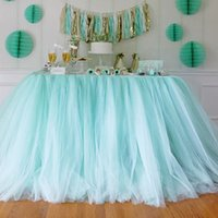 Wholesale 100CM CM Tutu Table Skrit Organza Desk Chair Tulle Wrapper Birthday Party Ceremony DIY Accessories wd752