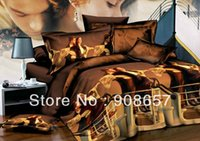 bedding discounts - new Europe oil painting brown Titanic printed D bedding set discount queen full size bed linen duvet covers for quilt comforter