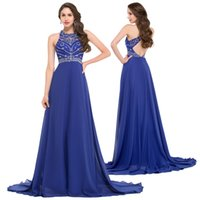 dress blue grace - Grace Karin Sleeveless Blue Hollowed Back with Sequins and Beading Chiffon Ball Gown Evening Prom Party Dress Size US GK000024
