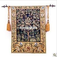 belgium carpet - 100 cotton tapestry for WilliamMorris Tree of Life Belgium style carpet living room tapestry home decoration