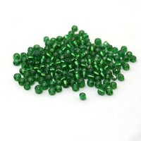 Cheap 400g lot 3mm Transparent Grass Green selection DIY Glass Loose Seed Beads with silver inner line for Jewelry Marking DH-BBG029-27
