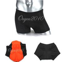 Wholesale 2016 Newest Hot Sale Unisex Black Comfortable Bicycle Cycling Short Underwear Gel D Padded Shorts S XXL For Outdoor Sports