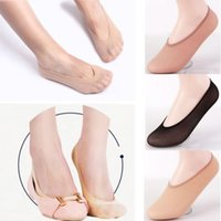 ballerina socks - Pairs Women Soft Loafer Boat No Slip Invisible Liner Low Cut Ballerina Elastic Socks