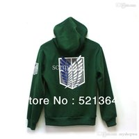 Wholesale Hot sale Japanese anime Attack On Titan Color Cotton Hoodie Cosplay Hooded Sweater