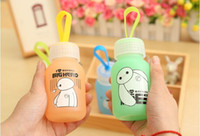 Wholesale New ml big hero glass cup Portable cup glass seal creative cartoon cup with cover style