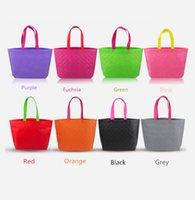 plain clothing - Non woven embossed Handbag shopping shoulder bags New Plaid bags high end portable clothing non woven bag Free shopping