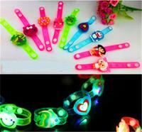 Wholesale LED light Bracelet flash wrist band night luminous cartoon bracelet toys children s Day Christmas Party Gift Glowing toy LED lighted toys