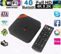 Wholesale 10pcs Original MXQ TV BOX Kodi14 Amlogic S805 Quad Core Android Kitkat K GB GB XBMC13 WIFI Airplay Miracast D DS1