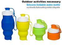 Wholesale newest customized silcone foldable water bottle portalbe bottle collapsible bottle